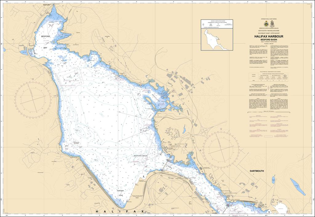 CHS Chart 4201: Halifax Harbour: Bedford Basin