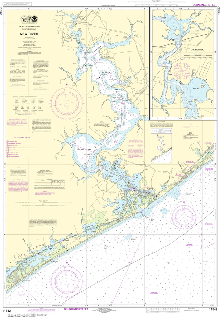 NOAA Chart 11542: New River, Jacksonville