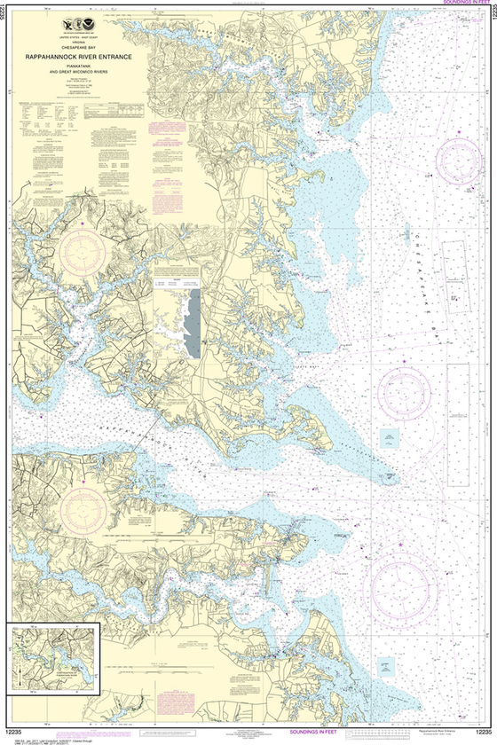 NOAA Chart 12235: Chesapeake Bay - Rappahannock River Entrance, Piankatank and Great Wicomico Rivers