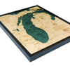 WoodChart of Lake Michigan (Large)