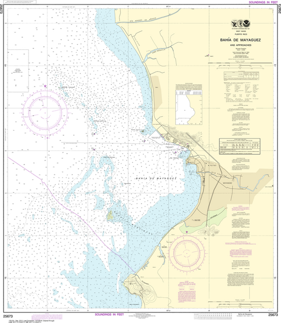 NOAA Chart 25673: Bahia de Mayaguez and Approaches