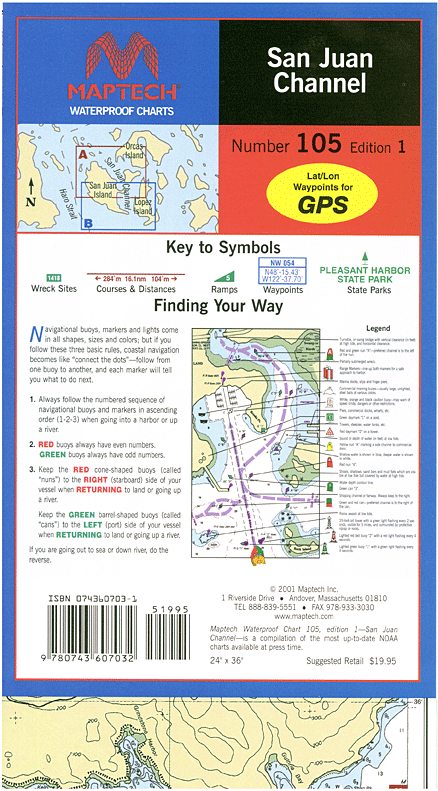 Captain's-Nautical-Supplies-Maptech-Waterproof-Chart-San-Juan-Channel