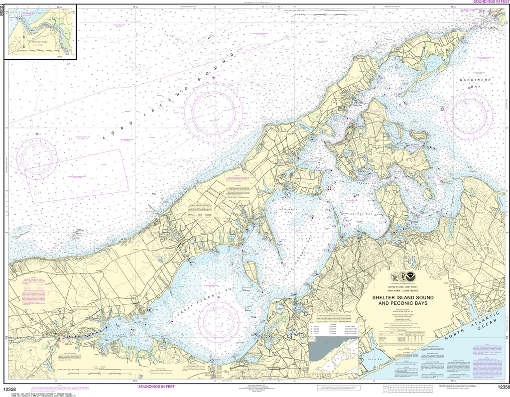 NOAA Chart 12358: New York - Long Island to Shelter Island Sound and Peconic Bays, Mattituck Inlet