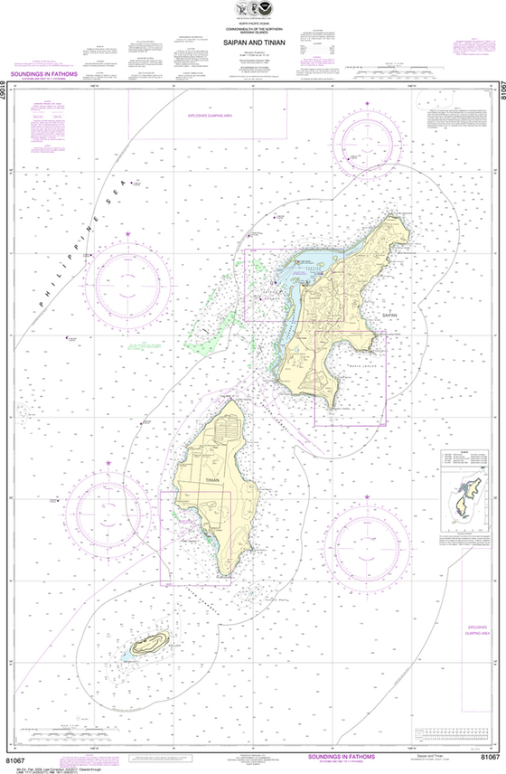 NOAA Chart 81067: Commonwealth of the Northern Mariana Islands - Saipan and Tinian