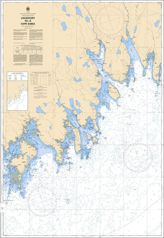 CHS Chart 4241: Lockeport to / à Cape Sable
