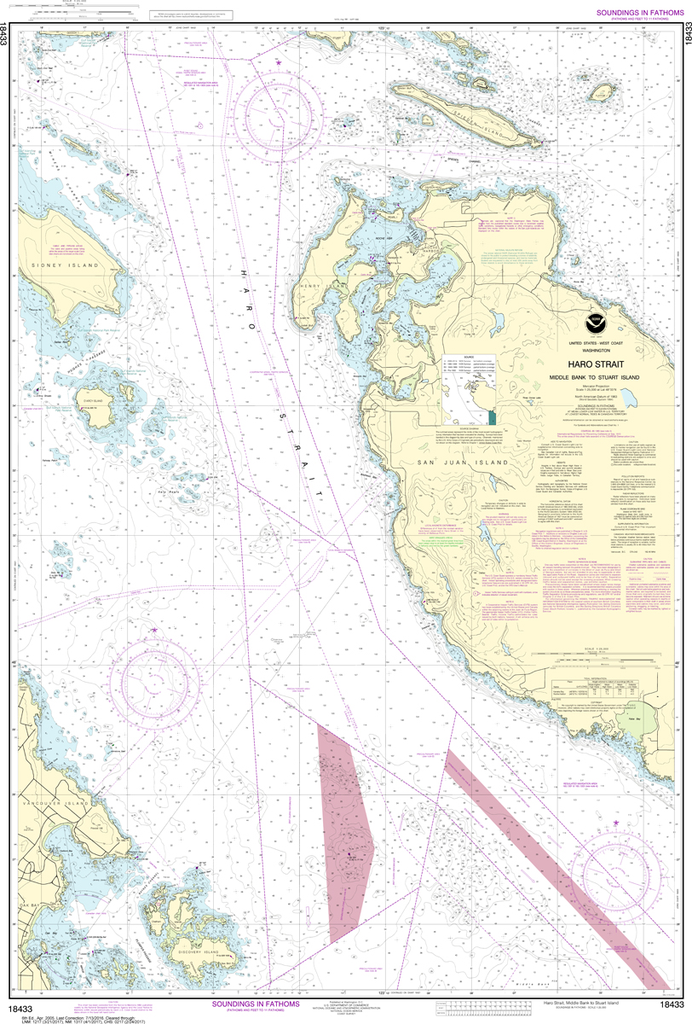 NOAA Chart 18433: Haro-Strait - Middle Bank to Stuart Island