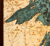 WoodChart of Great Lakes (Large)