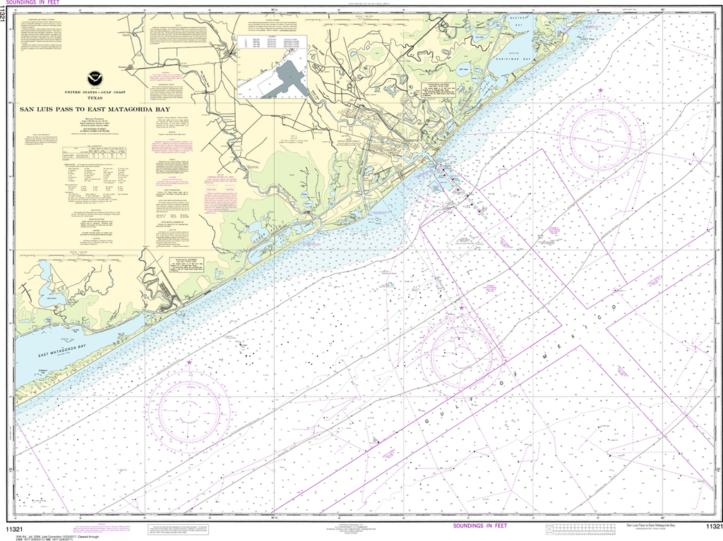 NOAA Chart 11321: San Luis Pass to East Matagorda Bay