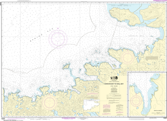 NOAA Chart 16487: Korovin Bay to Wall Bay, Atka Island, Martin Harbor