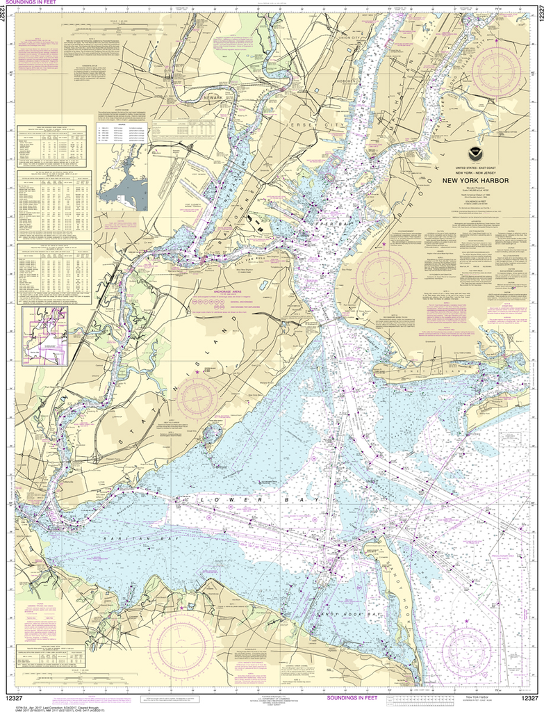 NOAA Chart 12327: New York Harbor