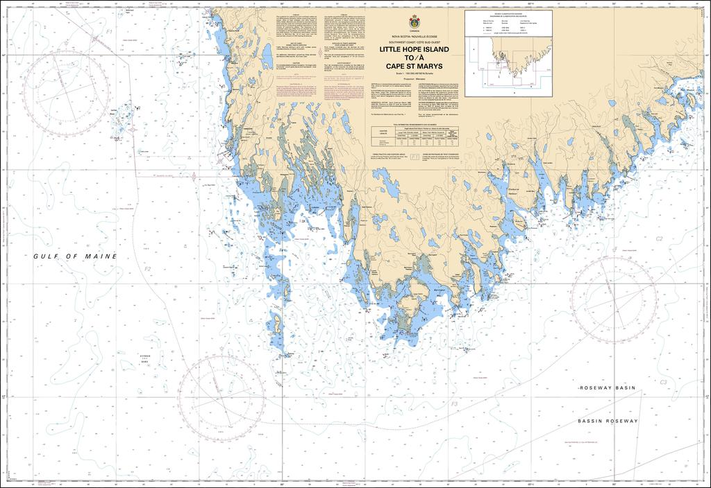 CHS Chart 4230: Little Hope Island to / à Cape St Marys