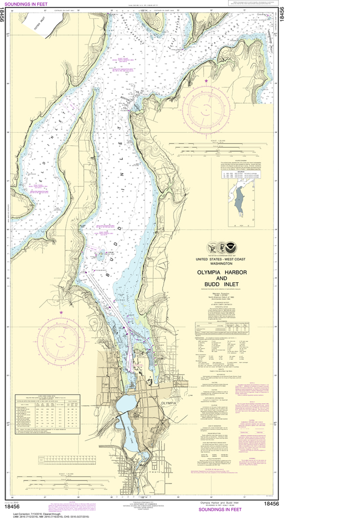 NOAA Chart 18456: Olympia Harbor and Budd Inlet