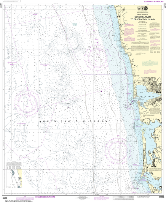 NOAA Chart 18500: Columbia River to Destruction Island