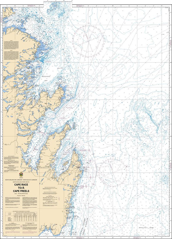 CHS Chart 4017: Cape Race to / à Cape Freels