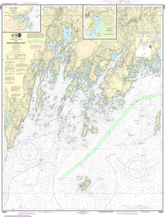 NOAA Chart 13301: Muscongus Bay, New Harbor, Thomaston