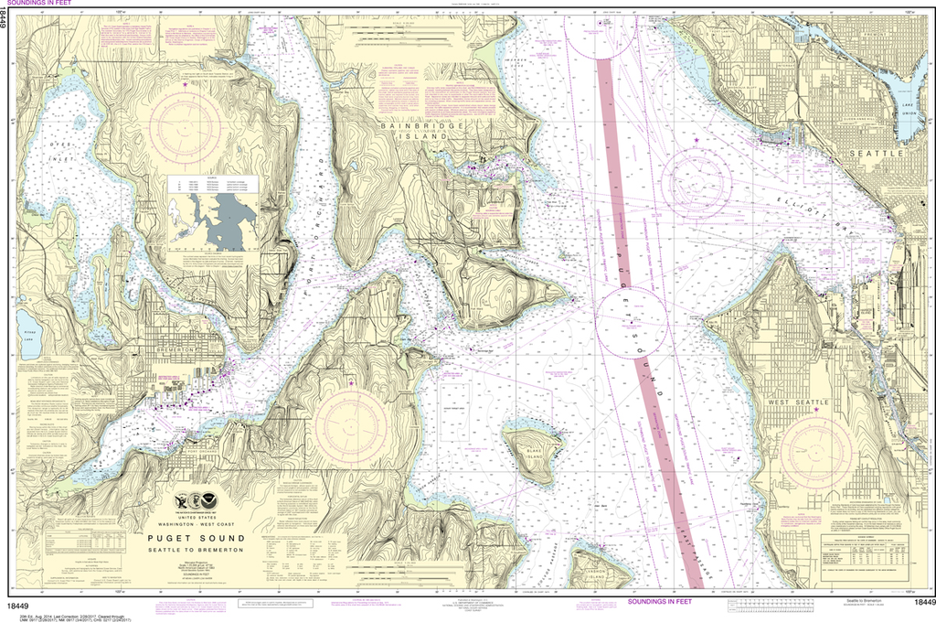 NOAA Chart 18449: Puget Sound - Seattle to Bremerton