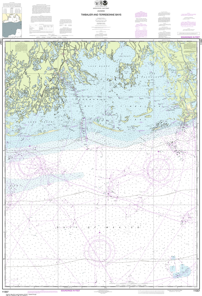 NOAA Chart 11357: Timbalier and Terrebonne Bays