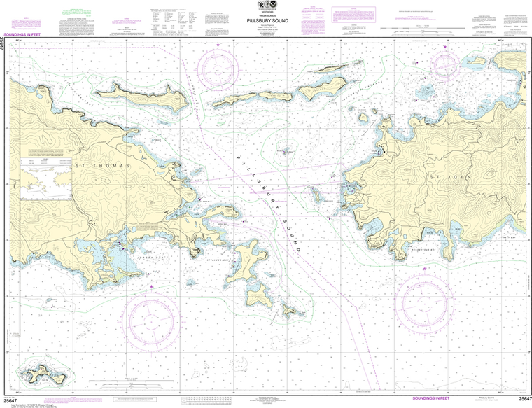 NOAA Chart 25647: Pillsbury Sound