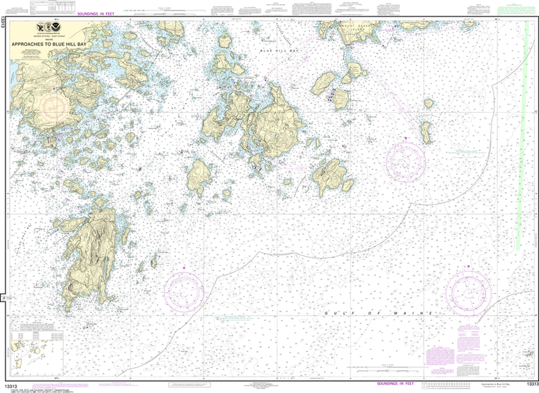 NOAA Chart 13313: Approaches to Blue Hill Bay