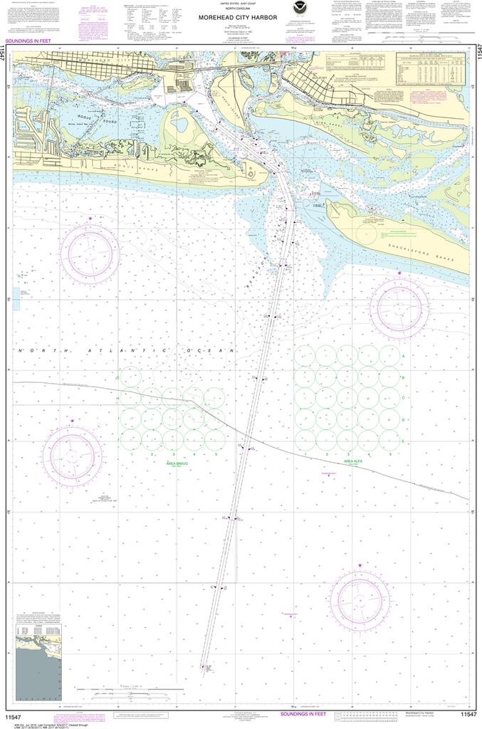 NOAA Chart 11547: Morehead City Harbor