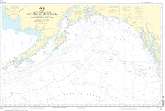 NOAA Chart 500: West Coast Of North America - Dixon Entrance To Unimak Pass