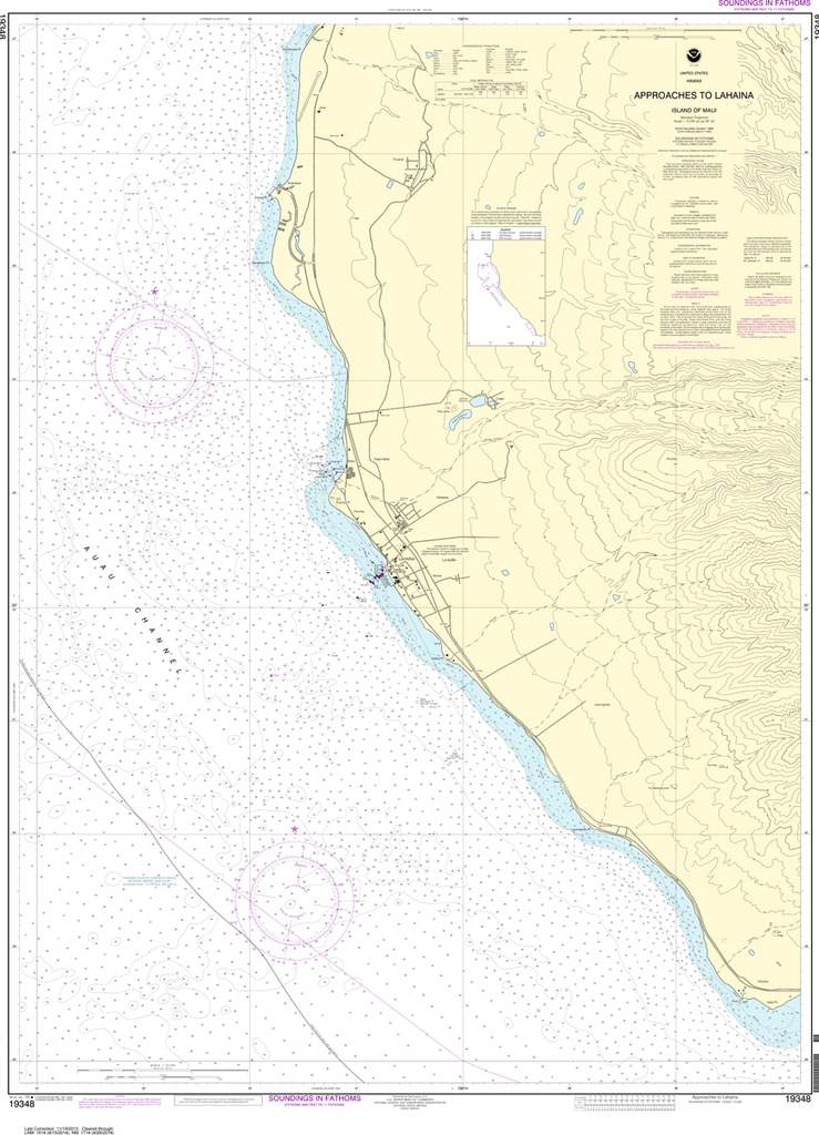 NOAA Chart 19348: Approaches to Lahaina, Island of Maui