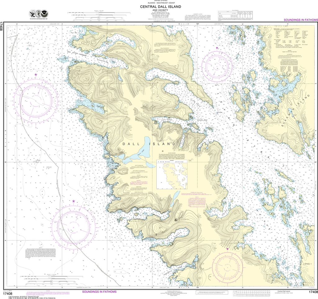 NOAA Chart 17408: Central Dall Island and Vicinity