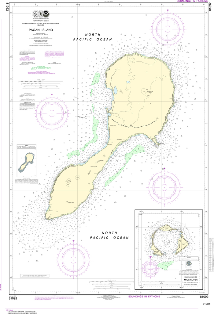 NOAA Chart 81092: Commonwealth of the Northern Mariana Islands