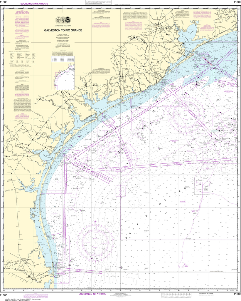 NOAA Chart 11300: Galveston to Rio Grande