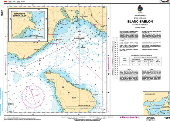 CHS Print-on-Demand Charts Canadian Waters-4980: Blanc Sablon, CHS POD Chart-CHS4980