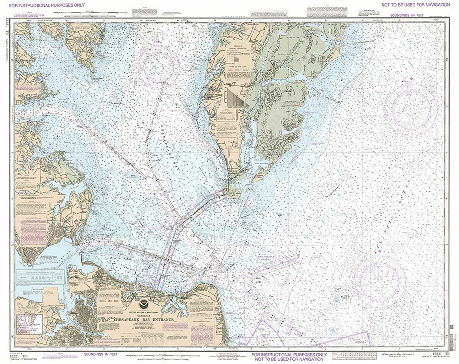 Training Chart 12221TR: Chesapeake Bay Entrance