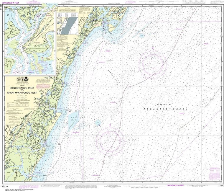 NOAA Chart 12210: Chincoteague Inlet to Great Machipongo Inlet, Chincoteague Inlet