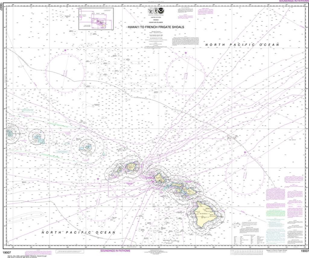 NOAA Chart 19007: Hawai'i to French Frigate Shoals