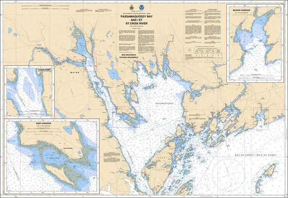 CHS Chart 4115: Passamaquoddy Bay and / et St. Croix River
