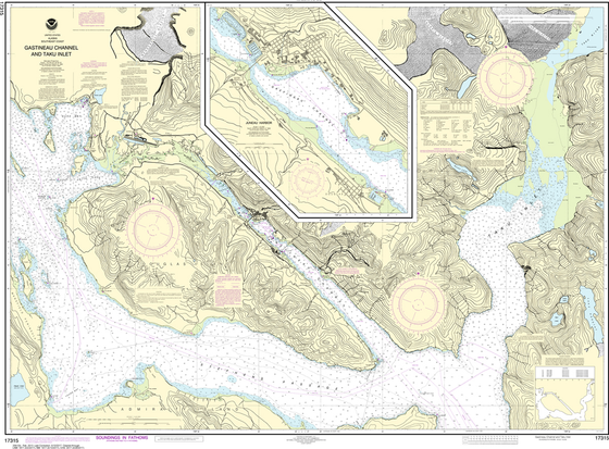 NOAA Chart 17315: Gastineau Channel and Taku Inlet, Juneau Harbor
