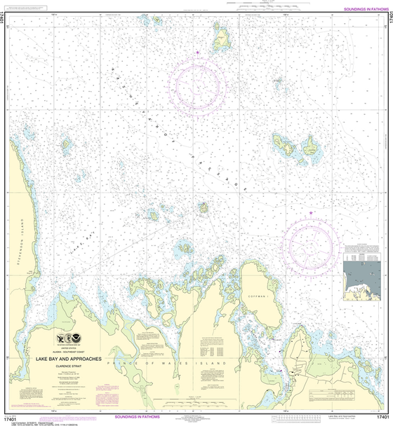 NOAA Chart 17401: Lake Bay and Approaches, Clarence Strait
