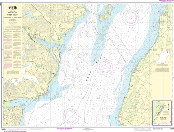 NOAA Chart 16661: Cook Inlet - Anchor Point to Kalgin Island, Ninilchik Harbor