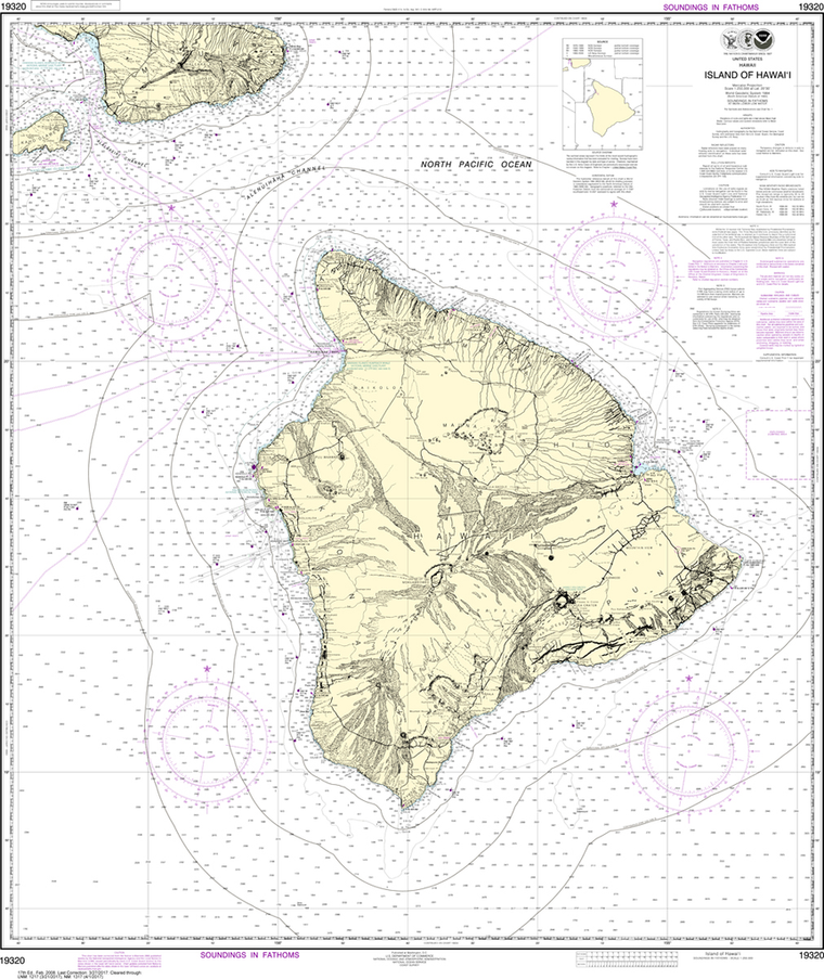NOAA Chart 19320: Island Of Hawai'i
