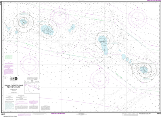 NOAA Chart 19019: French Frigate Shoals to Laysan Island