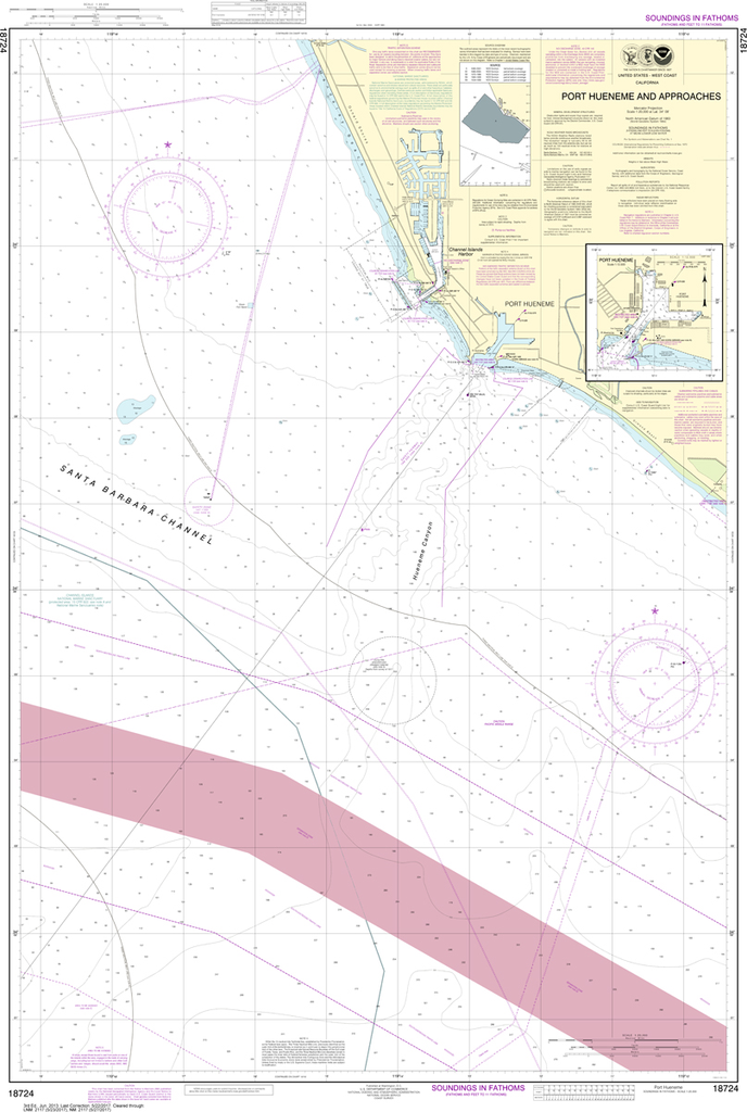 NOAA Chart 18724: Port Hueneme And Approaches, Port Hueneme