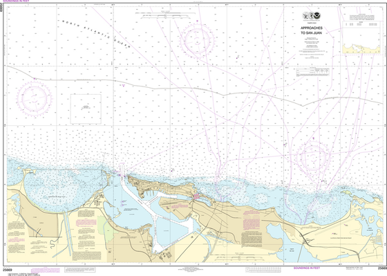 NOAA Chart 25669: Approaches to San Juan Harbor