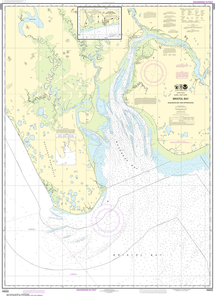 NOAA Chart 16322: Bristol Bay - Nushagak B and Approaches