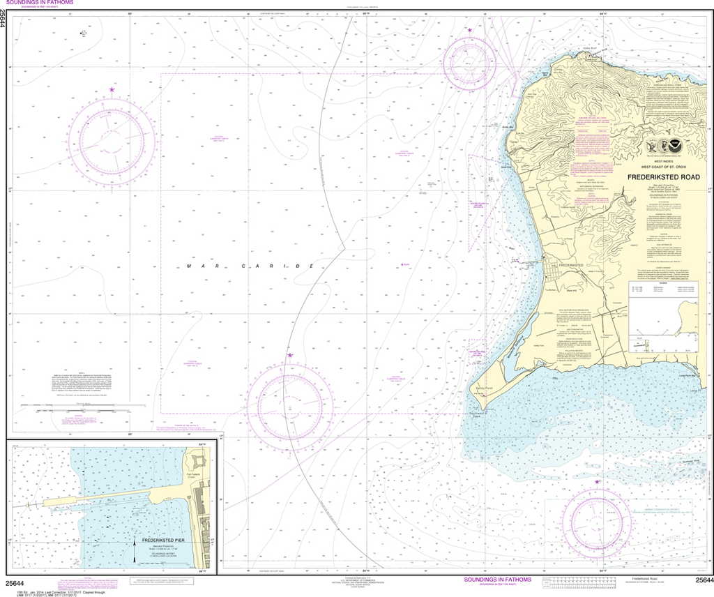NOAA Chart 25644: Frederiksted Road, Frederiksted Pier