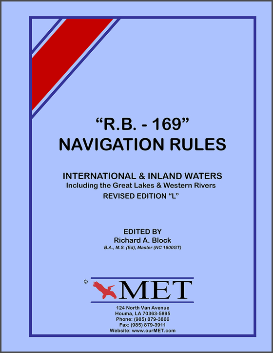 "RB-169 Navigation Rules for International & Inland Waters, Edition ""L"""