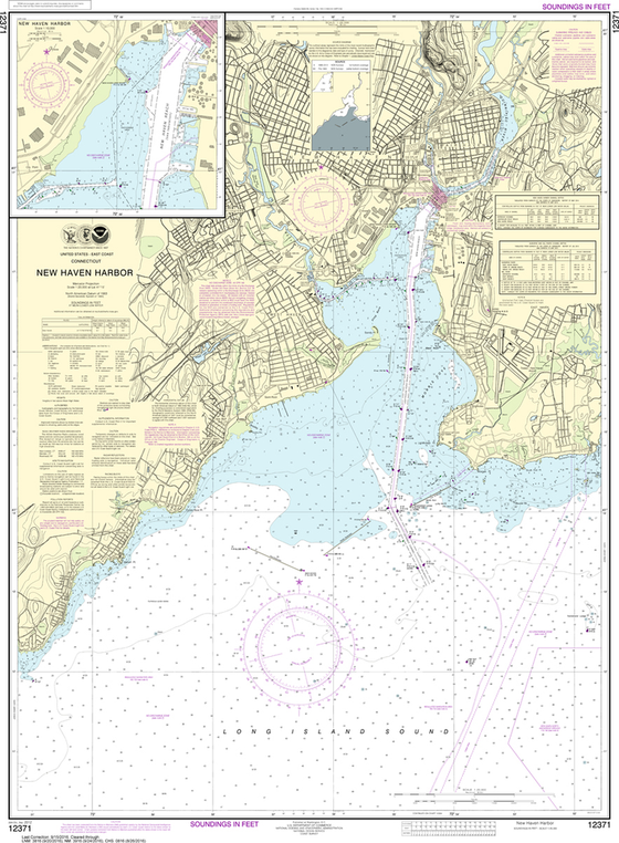 NOAA Chart 12371: New Haven Harbor, New Haven Harbor (Inset)