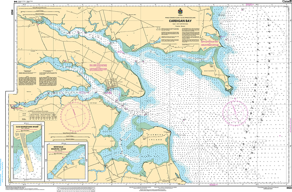 CHS Print-on-Demand Charts Canadian Waters-4422: Cardigan Bay, CHS POD Chart-CHS4422