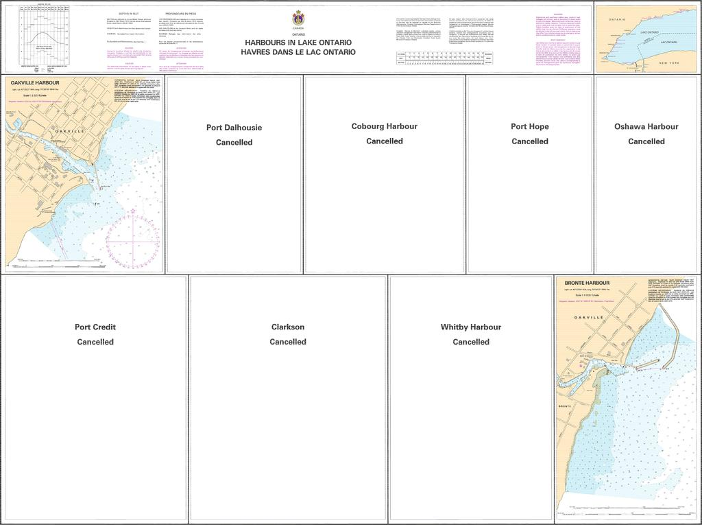 CHS Chart 2070: Harbours in Lake Ontario/Havres dans le lac Ontario