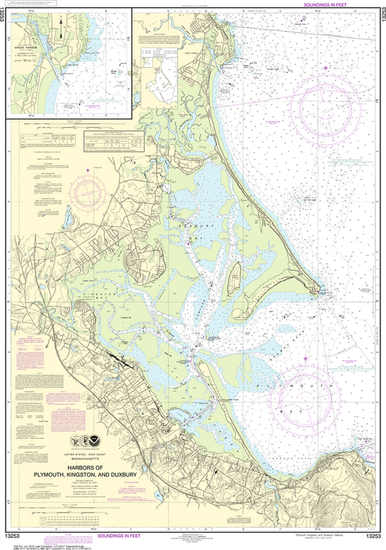 NOAA Chart 13253: Harbors of Plymouth, Kingston and Duxbury, Green Harbor