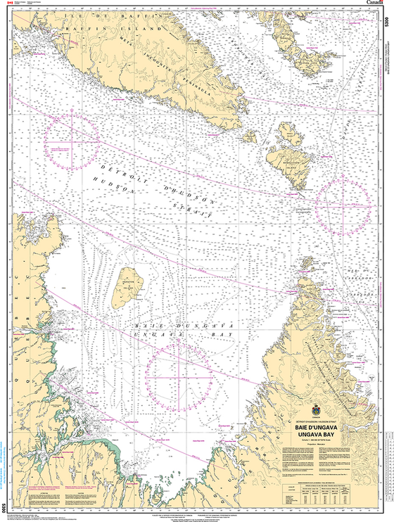 CHS Print-on-Demand Charts Canadian Waters-5300: Baie DUngava / Ungava Bay, CHS POD Chart-CHS5300