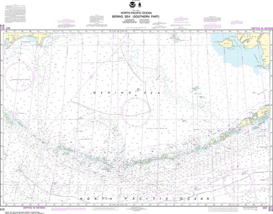 NOAA Chart 513: Bering Sea - Southern Part
